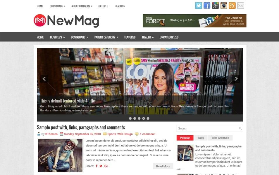 300 best free responsive blogger templates 2018 css author newmag responsive blogger template wajeb Gallery