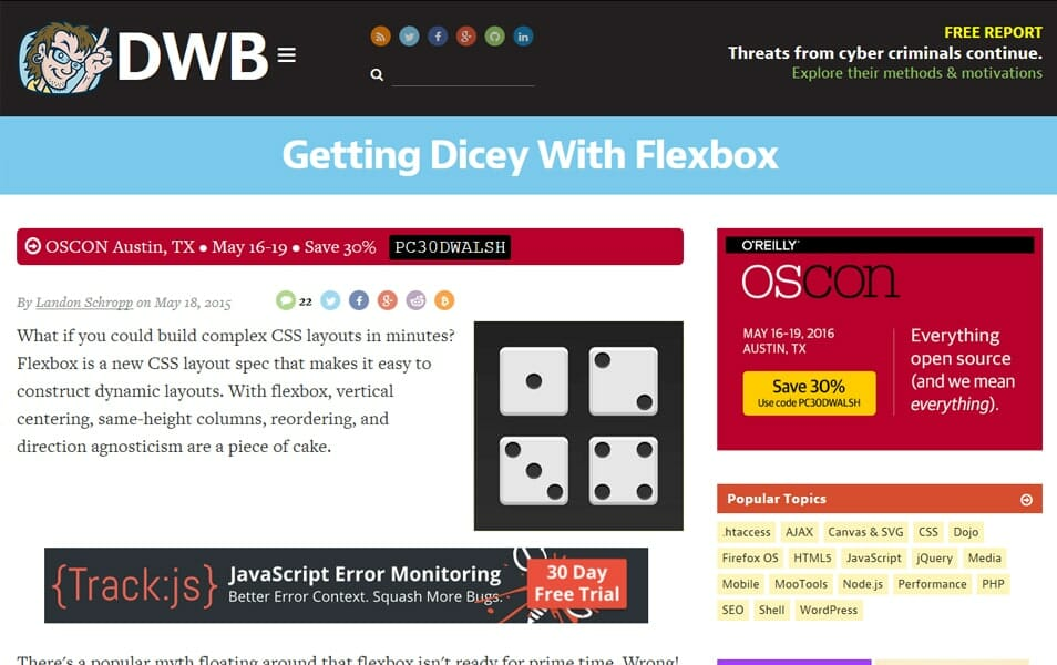Getting Dicey With Flexbox