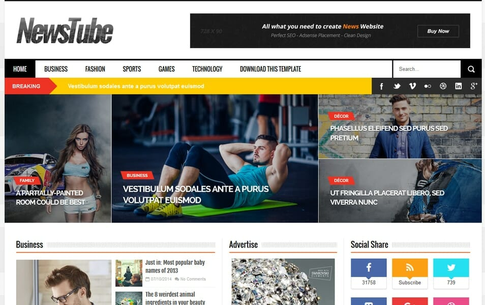 300 best free responsive blogger templates 2018 css author newstube responsive blogger template cheaphphosting Images