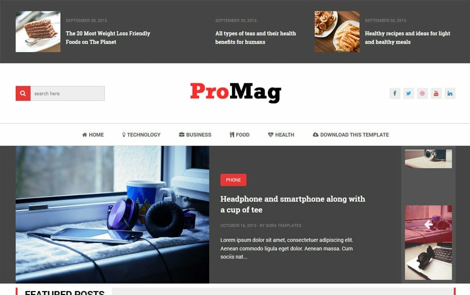 300 best free responsive blogger templates 2018 css author promag responsive blogger template fandeluxe Images