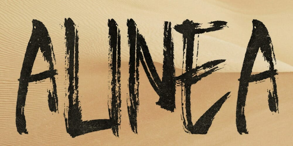 Alinea Brush Typeface