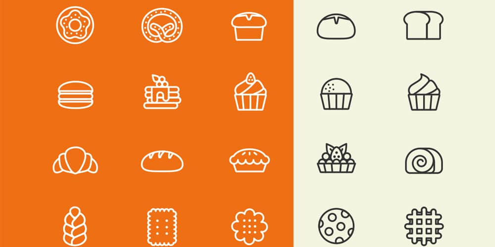 Bakery Vector Line Icons