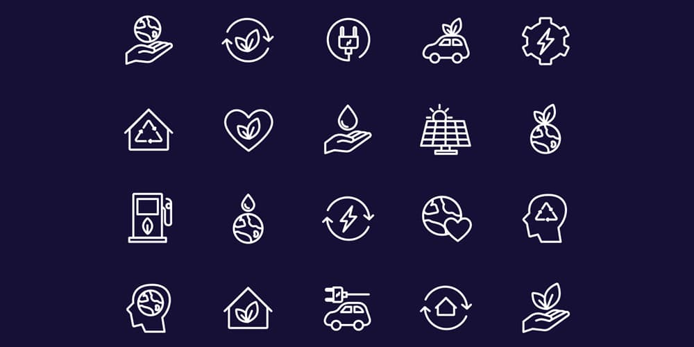 Energy Source and Ecology Icons