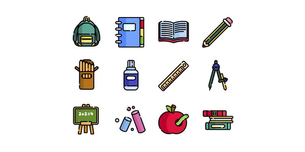 Free Back to School Icons