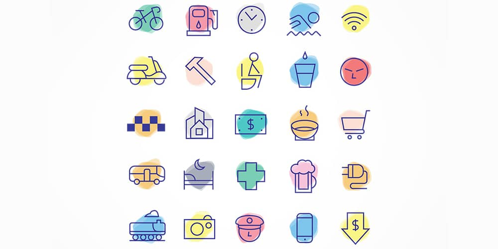 Free Linear Travel Icons