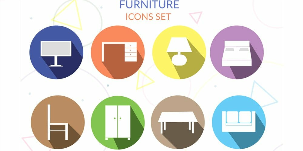 Furniture Icons PSD