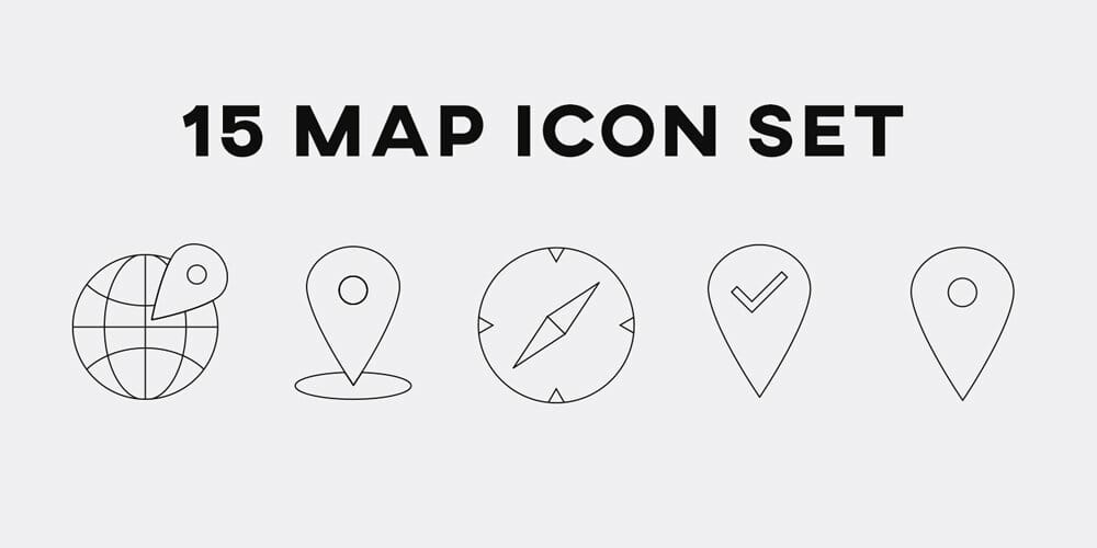 Line Map Icons