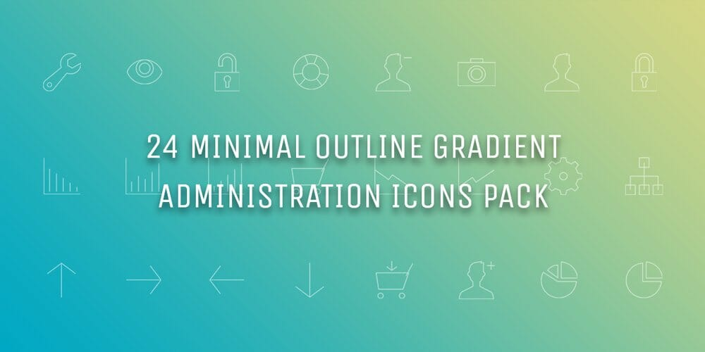 Minimal Gradient Outline Administration Icons