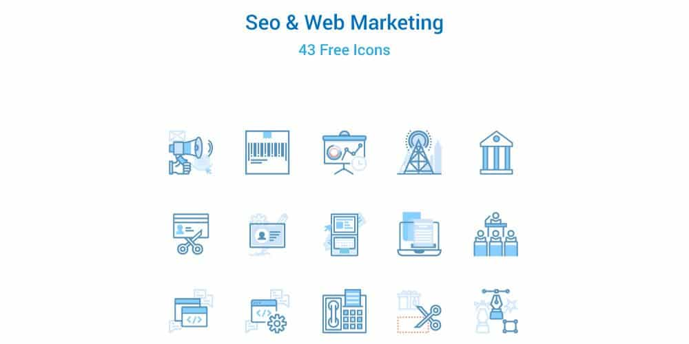 Seo and Web Marketing Icons