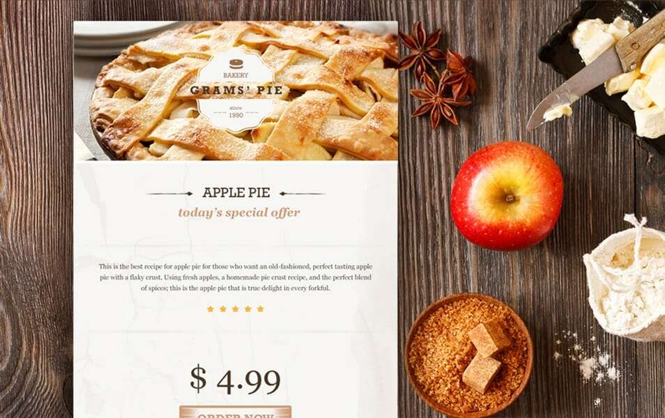 Bakery Widget PSD