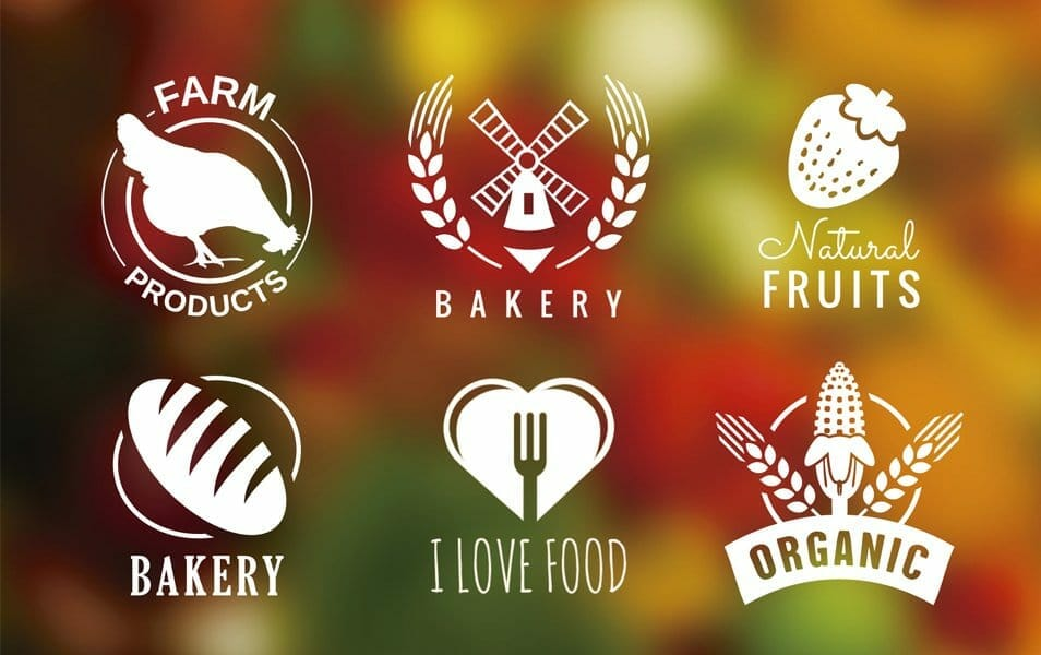 Bakery and organic badges set