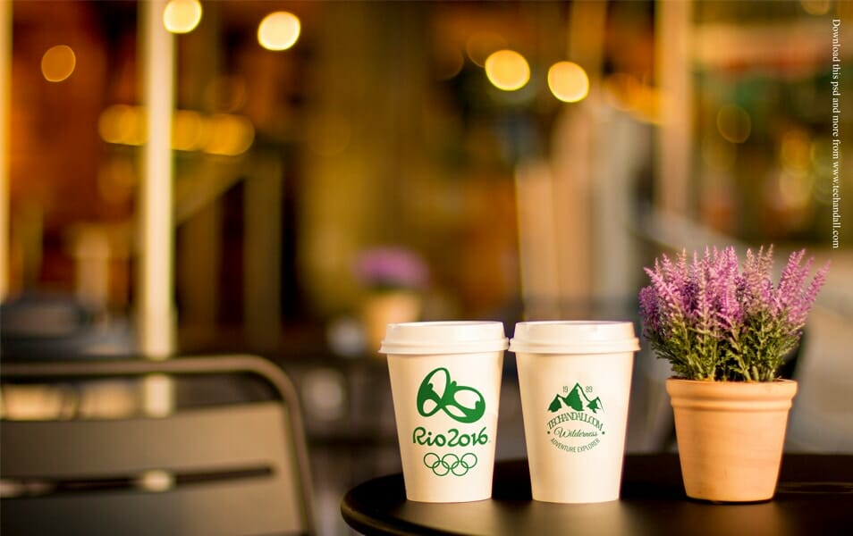 Coffee Cup Branding Mock up