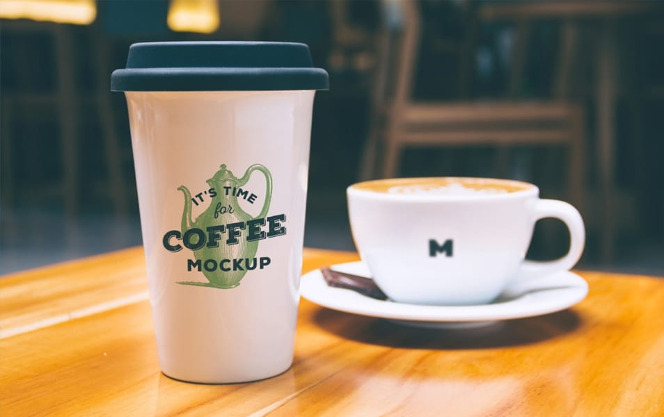 Coffee Mug and Cup Mockup