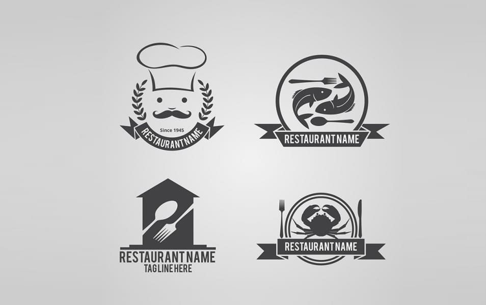 Collection of restaurant logos