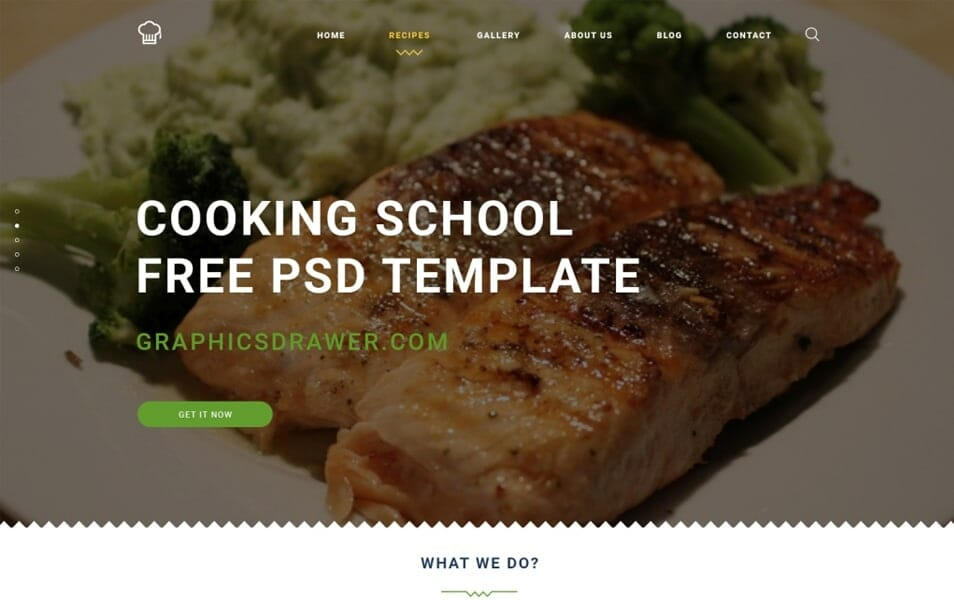 Cooking School – FREE PSD Template