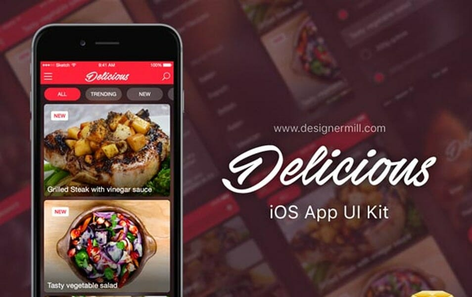 Delicious iOS App UI Kit