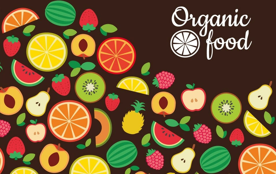 Flat organic food backdrop