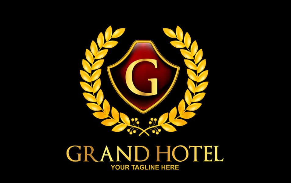 Free Grand – Royal Hotel Logo Template PSD