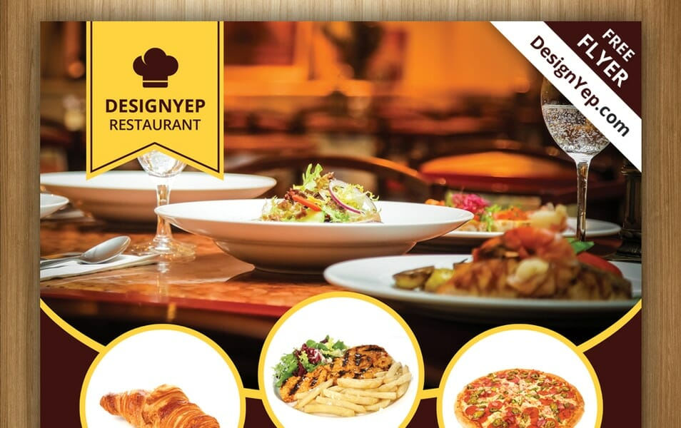 Free Restaurant Flyer PSD Template