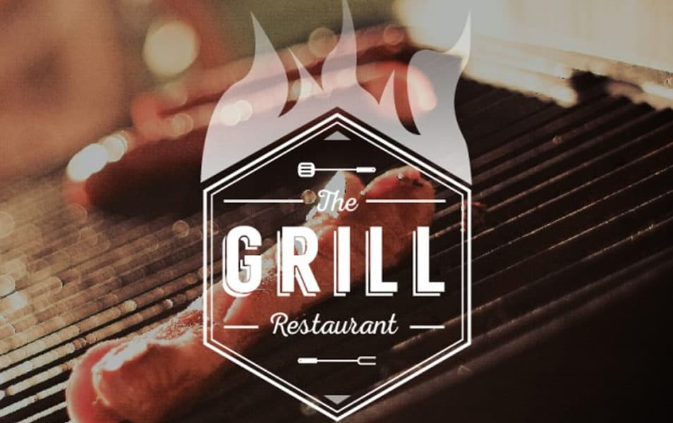 Grill logo Free Vector