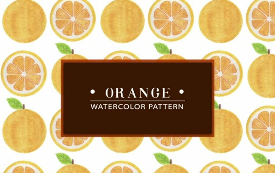 Hand Painted Orange Watercolor Pattern