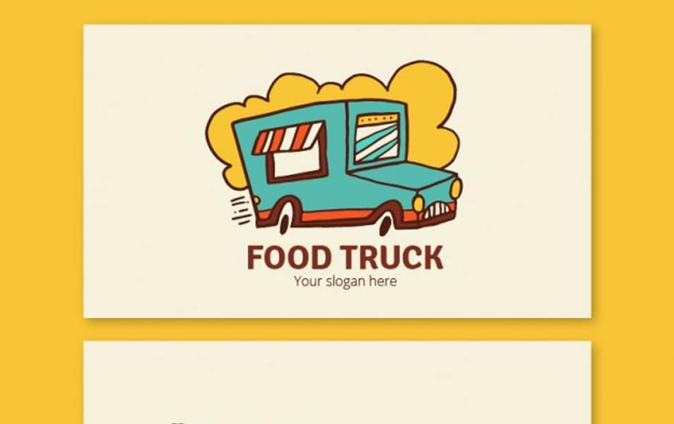 Hand drawn food trucks banners