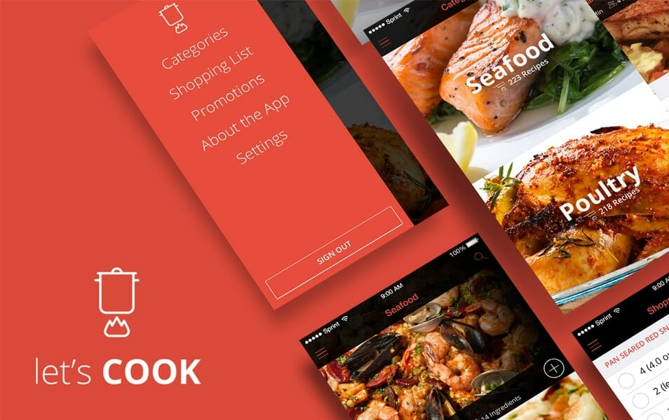Let's Cook – Recipe App Design Concept