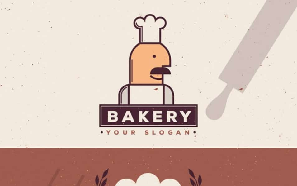 Nice Bakery Logotypes in Flat Design