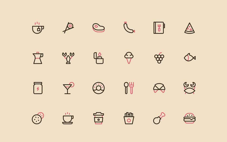Nucleo Food Icons Free
