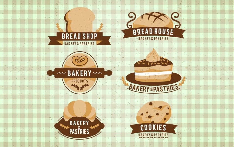 Pack of Beautiful Baked Products Badges