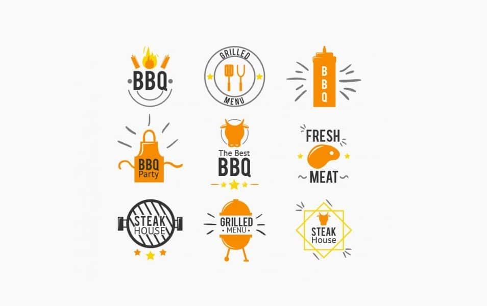 Picnic and bbq Badge Collection