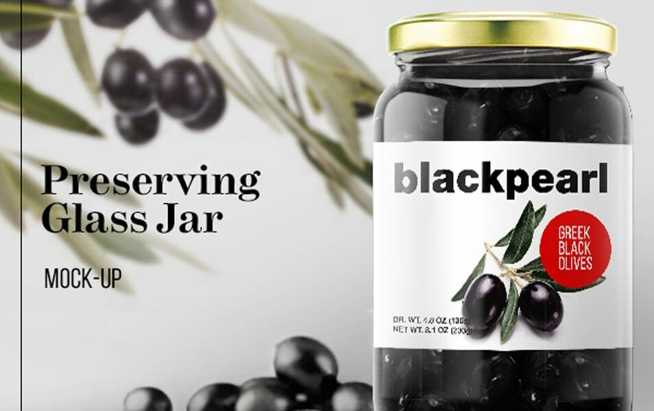 Preserving Glass Jar Mock-Up FREE