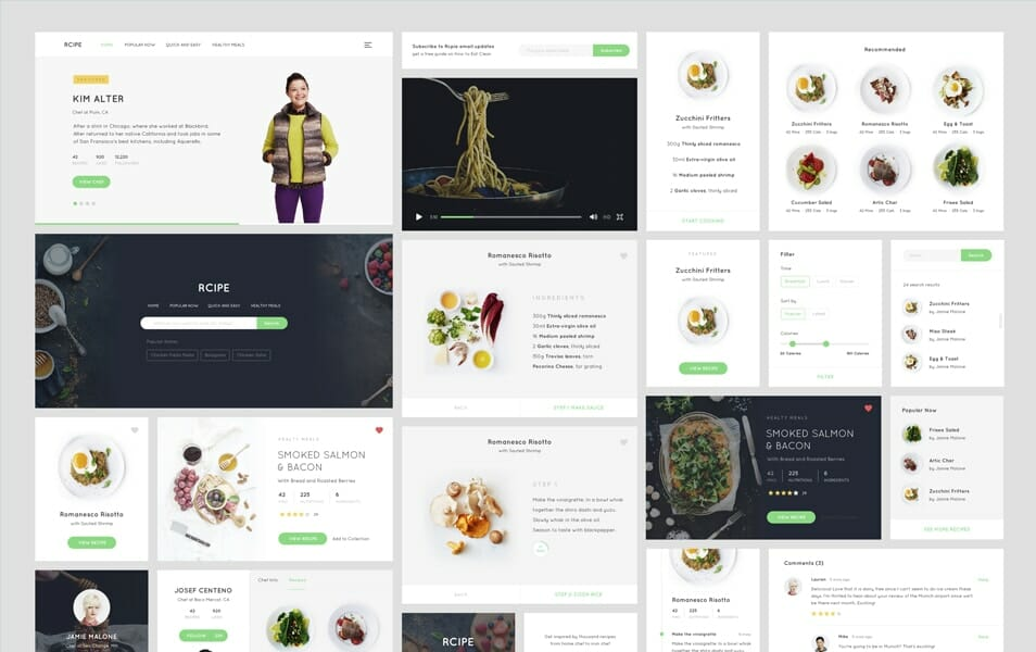 Recipe Free UI kit Sketch