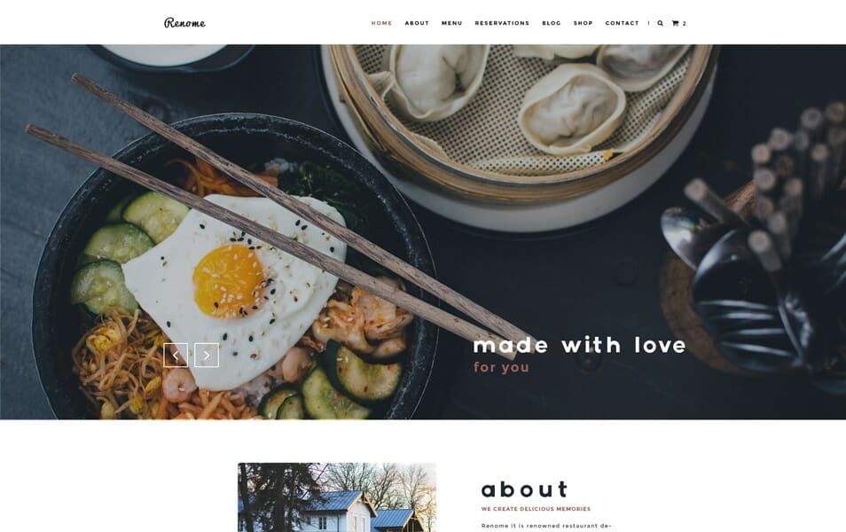 Renome – Free PSD Restaurant Template