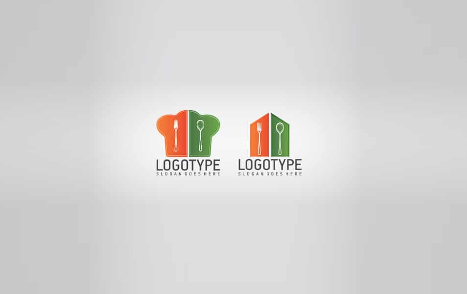 Restaurant Shapes Logo Template