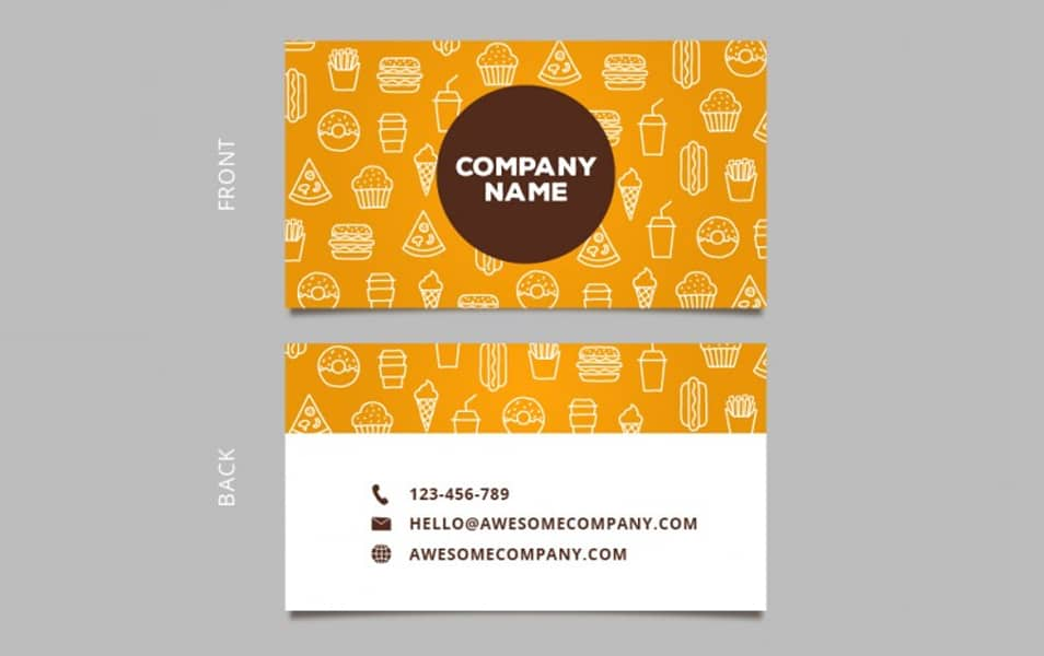 Sketches food business card