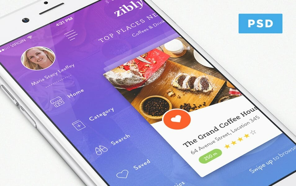 Zibly_Food Discovery App Freebie