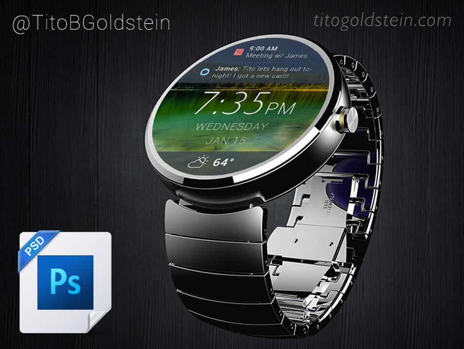 Android Wear – Wearable Mockup
