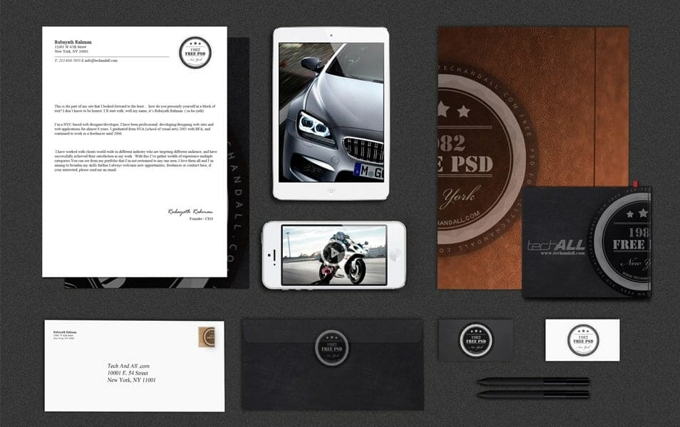 "Branding Identity Mock up Vol.2 ""Luxury"""