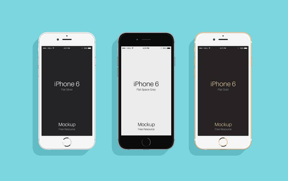 Flat Psd iPhone 6 & 6s Mockup