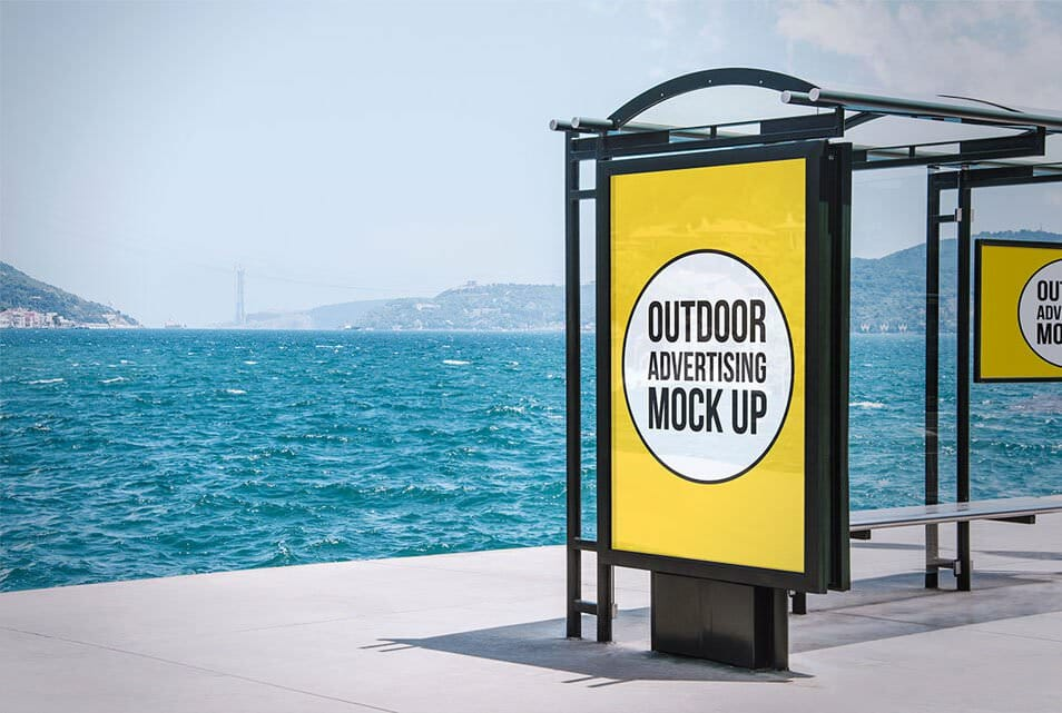 Free Outdoor Advertising Mock Up 06