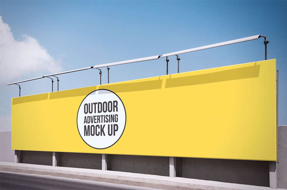 Free Outdoor Advertising Mock Up 07
