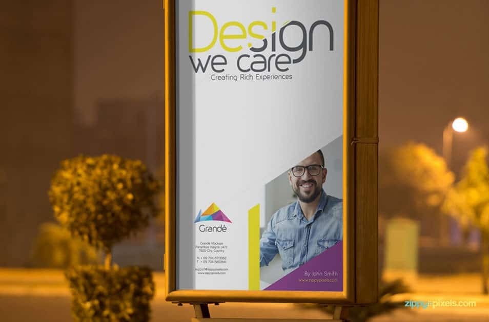Free Outdoor Roadside Poster PSD Mockup