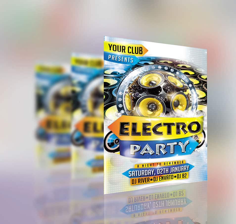 Free PSD Flyer Mock-up #2