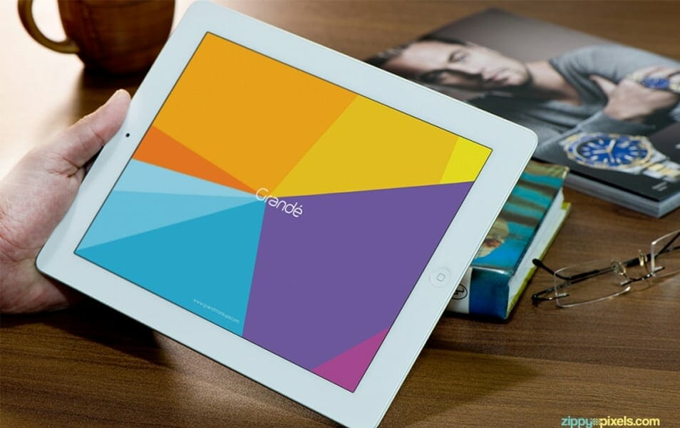 Free Photorealistic Device Mockup of iPad