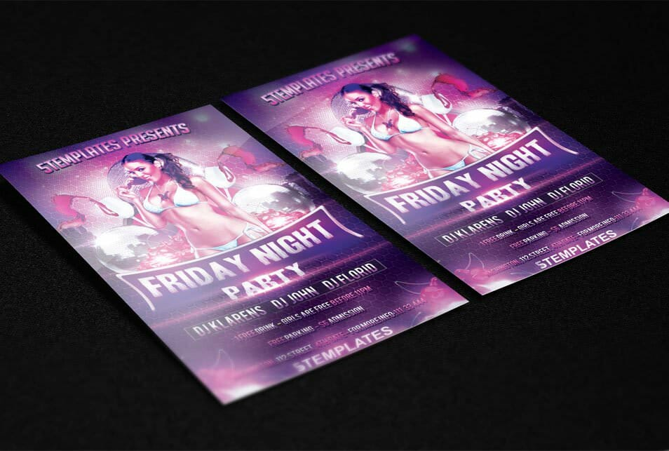 Friday Night Flyer FREE PSD Template