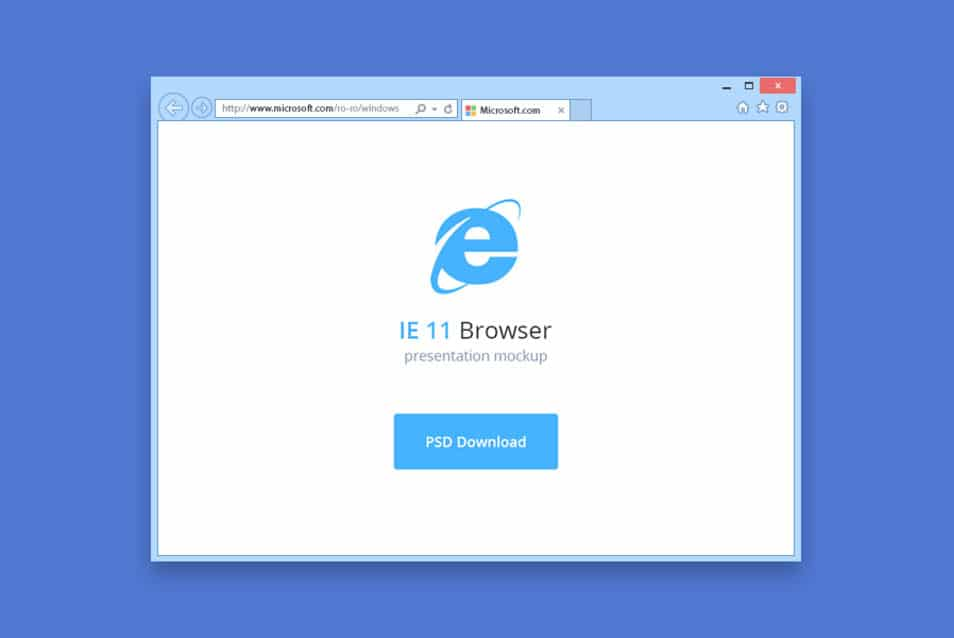 IE 11 browser mockup
