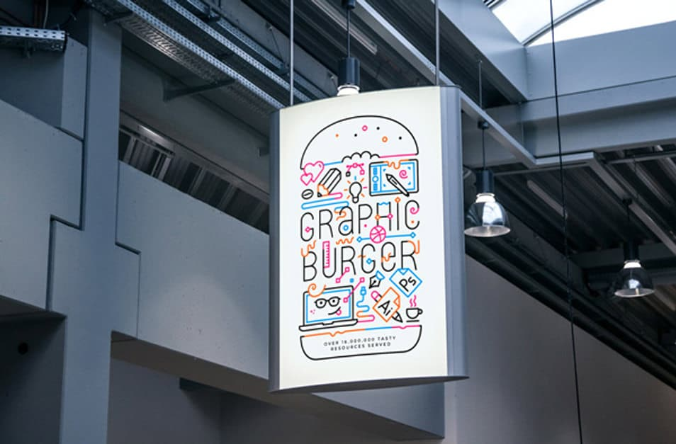 Indoor Advertising Poster MockUp #2
