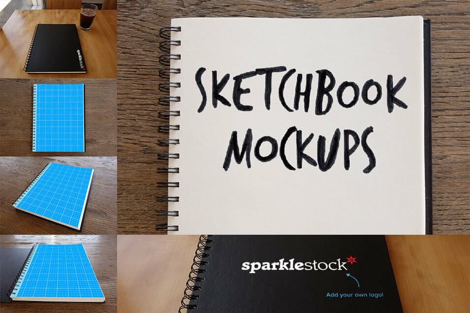 Photorealistic Sketchbook Mockups