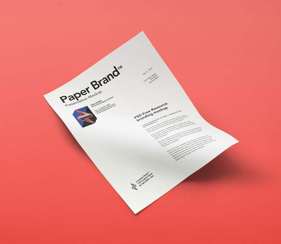 Psd A4 Paper Mock-Up Vol11